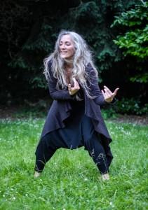 Julia dances in nature