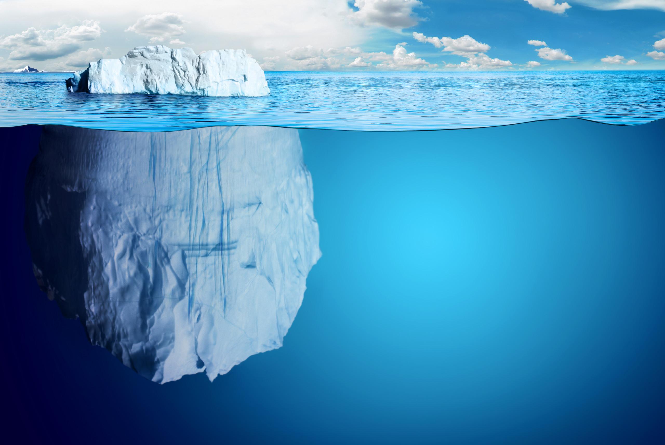 Das Geheimnis der Stillness, Eisberg in Tiefe